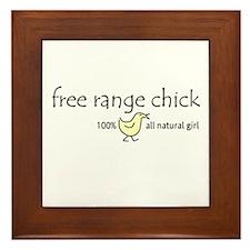 Free Range Chick Framed Tile