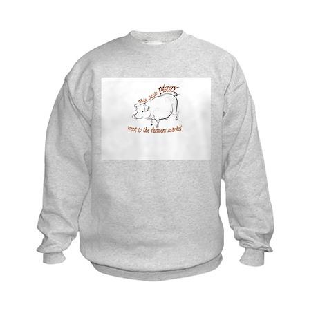 Little Piggy Farm Market Kids Sweatshirt
