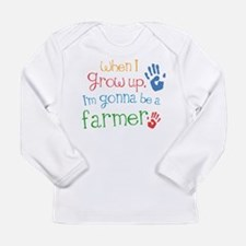 Kids Farmer Quote Long Sleeve Infant T-Shirt
