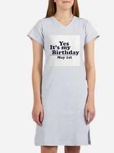 May 1 Birthday Women's Pink Nightshirt