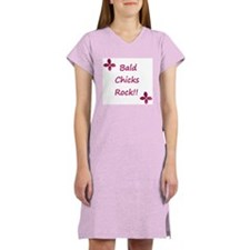 Bald chicks rock! Women's Nightshirt