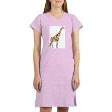 Multicolored Giraffe Women's Nightshirt