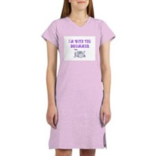 I'M WITH THE DRUMMER Women's Pink Nightshirt