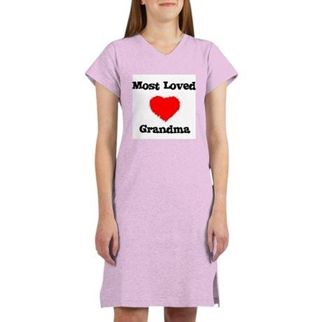 Most Loved Grandma Women's Nightshirt