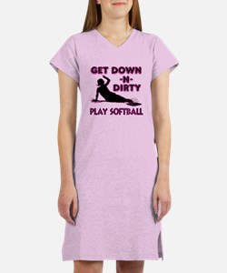PINK - DOWN-N-DIRTY Women's Nightshirt