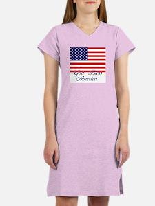 God Bless America Women's Nightshirt