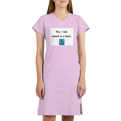 Raised in a Barn Women's Pink Nightshirt