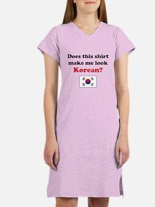 Make Me Look Korean Women's Nightshirt