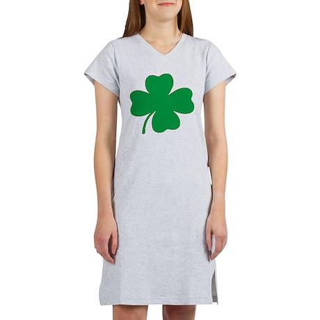 St. Patrick's Day Shamrock Women's Pink Nightshirt