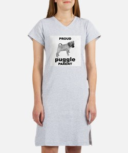 Cute I love puggles Women's Nightshirt