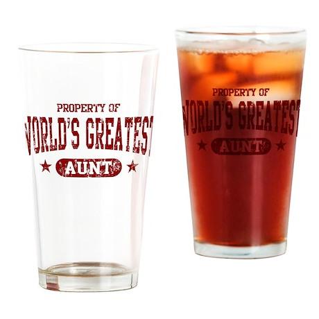 World's Greatest Aunt Drinking Glass