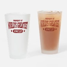 World's Greatest Uncle Drinking Glass