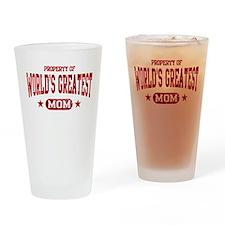 World's Greatest Mom Drinking Glass