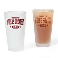 World's Greatest Dad Drinking Glass