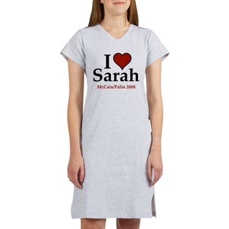 I Heart Sarah Palin Women's Nightshirt
