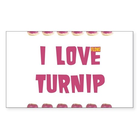 I Love Turnip! Sticker (Rectangle)