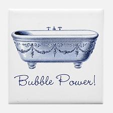 Bubble Power (blue) Tile Coaster