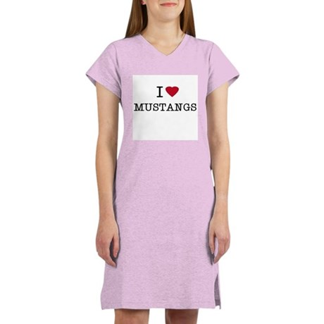 I Heart Mustangs Women's Pink Nightshirt
