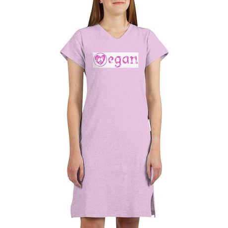 peace, love, vegan Women's Nightshirt