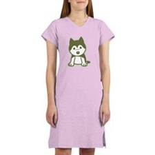 Husky Puppy Women's Nightshirt