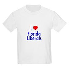 I Love Florida Liberals Kids T-Shirt