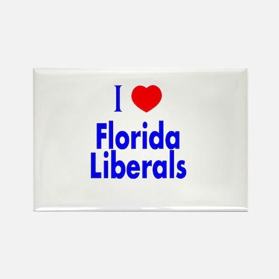 I Love Florida Liberals Rectangle Magnet