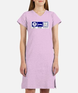 Eat, Sleep, Volleyball Women's Nightshirt
