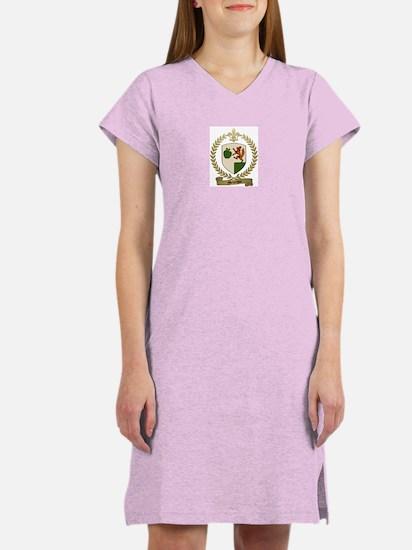 MELANSON Family Crest Women's Pink Nightshirt
