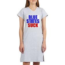 Blue States Suck Women's Pink Nightshirt
