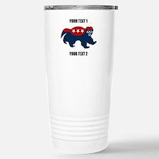 Patriotic Honey Badger Travel Mug