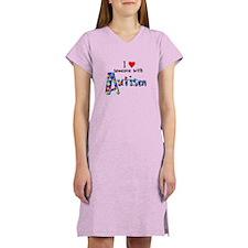 I love someone w/ Autism Women's Nightshirt