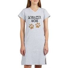 Big Paws Schnauzer Mom Women's Nightshirt