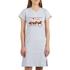 I Love Horses Women's Nightshirt