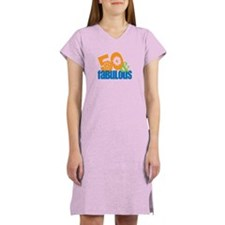 50th birthday & fabulous Women's Nightshirt