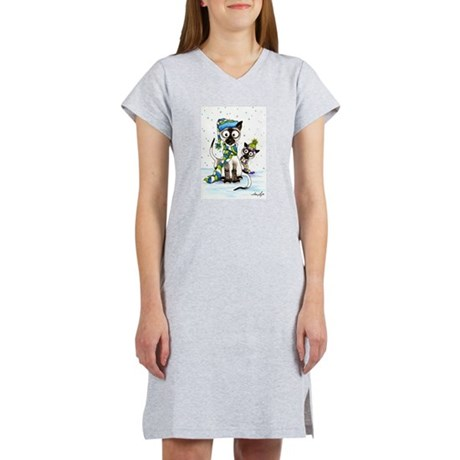 Siamese & Snow Women's Nightshirt