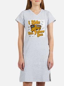 Yellow bus ridah Women's Nightshirt