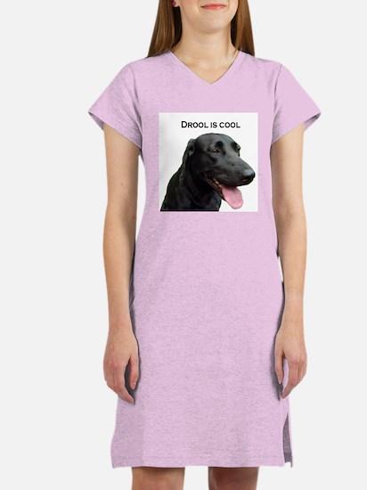 drool is cool Women's Pink Nightshirt