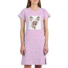 Chinese crested dog Women's Nightshirt