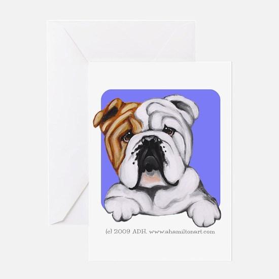 English Bulldog Lover Greeting Card