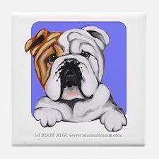 English Bulldog Lover Tile Coaster