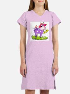 Purple Cow Red Hat Women's Nightshirt