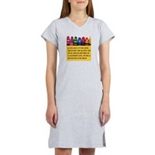 Peaceful Crayons Women's Nightshirt