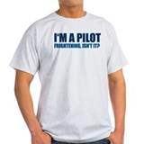 Funny pilot Mens Light T-shirts