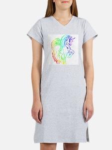 Rainbow Unicorn Women's Pink Nightshirt