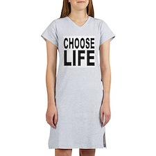 Choose Life Women's Pink Nightshirt