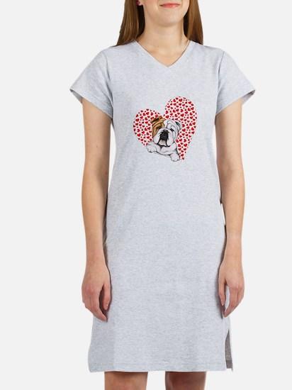 English Bulldog Love Women's Nightshirt