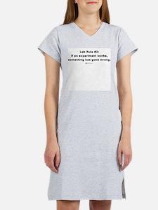 Lab Rule #2 - Women's Pink Nightshirt