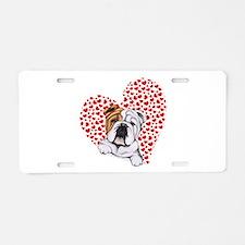 English Bulldog Love Aluminum License Plate