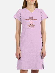 Herding Champion CDS Women's Nightshirt