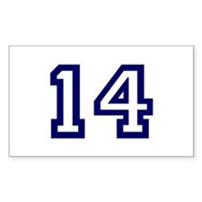 Number 14 Rectangle Bumper Stickers
